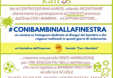 #CONIBAMBINIALLAFINESTRA - VIDEO-ANIMAZIONE, per i TRE DISEGNI PIU' BELLI D'Abruzzo - www.centrogiovanikairos.it
